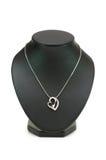 Halsband met hartvorm royalty-vrije stock afbeeldingen