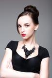 Halsband på halsen Arkivfoto