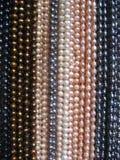 halsband pryder med pärlor rad arkivbilder