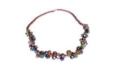 Halsband som göras av jaspisen och zircon royaltyfri fotografi