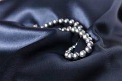 Halsband van zwarte parel royalty-vrije stock foto