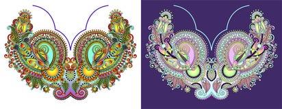 Halsbandbroderitryck för modedesign arkivfoto