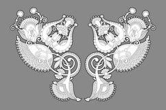 Halsbandbroderitryck för modedesign royaltyfri illustrationer