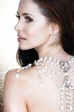 halsbandkvinna Arkivbild