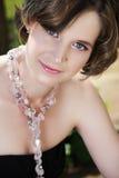 halsbandkvinna Arkivfoto