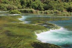 Halsbandwaterval in Makarska, Kroatië stock foto's