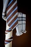 Halsdoek en sjaal voor de mens stock foto