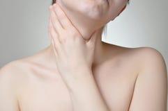 Halsen smärtar Royaltyfria Foton