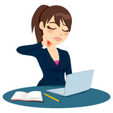 Halsen smärtar arbete stock illustrationer