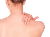 halsen smärtar kvinnan Arkivbilder