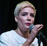 Halsey. October 19, 2015 - American Singer-Songwriter Halsey Performs at Q102's Performance Theatre in Bala Cynwyd, Pennsylvania, United States Royalty Free Stock Image