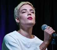 Halsey. October 19, 2015 - American Singer-Songwriter Halsey Performs at Q102's Performance Theatre in Bala Cynwyd, Pennsylvania, United States Royalty Free Stock Photography