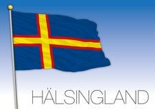 Halsingland regional flag, Sweden, vector illustration stock photography