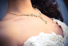 Halskette der Braut Stockfoto