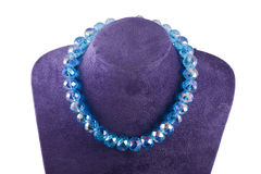 Halskette des Kristalles stockfoto