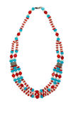 Halskette gemacht von den Perlen Lizenzfreie Stockfotos