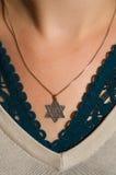 Halskette mit dem Davidsstern Lizenzfreie Stockbilder