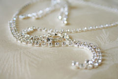 Halskette mit Diamanten Stockfoto