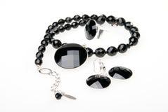 Halskette, pendent, Ring und Ohrringe Lizenzfreie Stockfotos