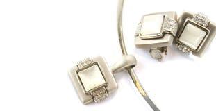 Halskette und Klipps lizenzfreie stockbilder