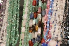 Halsketten der Frauen Stockfoto