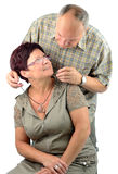 Halskettengeschenk vom Ehemann Lizenzfreie Stockfotografie