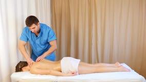 Halsmassage stock video