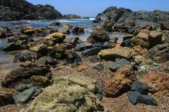 Halsować punkt latarni morskiej plażę Zdjęcie Royalty Free
