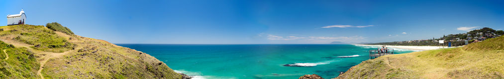 Halsować punkt latarni morskiej port Macquarie Australia Zdjęcia Royalty Free