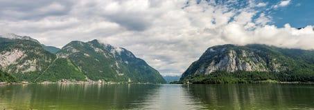 Halstatt lake, Alps, Austria, Europe: [Morning over stock photography