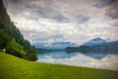 Halstatter湖 奥地利 免版税库存照片