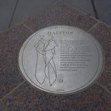 Halstonplaque Stock Fotografie