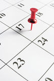 halsu kalendarzowy kciuk Obraz Royalty Free