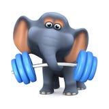 haltérophile de l'éléphant 3d Photo libre de droits