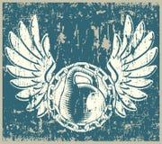 Haltérophilie grunge Images libres de droits