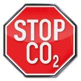 Halt für CO2 lizenzfreie abbildung