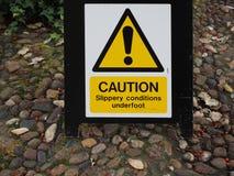halt golvtecken för varning royaltyfri bild