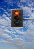 Halt: green light on traffic lights Stock Photo