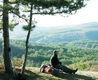 Halt in hike Stock Images