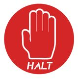 Halt icon Royalty Free Stock Image