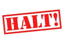 HALT! Royalty Free Stock Photography