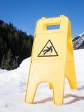 Halt yttersidatecken för varning arkivfoton