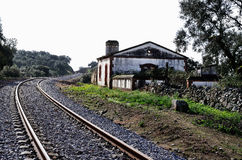 Halte et voies ferrées Images stock