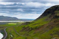 Haltebucht entlang Ring Road, Island lizenzfreie stockfotos
