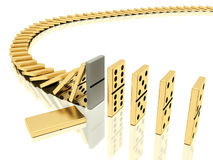 Free Halted Dominoes Effect Stock Photography - 16311942