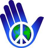 Halten des Friedens auf Erde/ENV vektor abbildung
