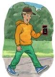 Halten des Telefons Lizenzfreie Stockbilder