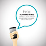 Halten des Telefons Copyspace Lizenzfreies Stockbild