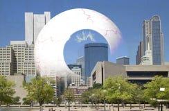 Halten eines Auge oncity Dallas Stockfoto