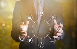 Halten multichanel des on-line-Kommunikationsnetzes Lizenzfreie Stockbilder